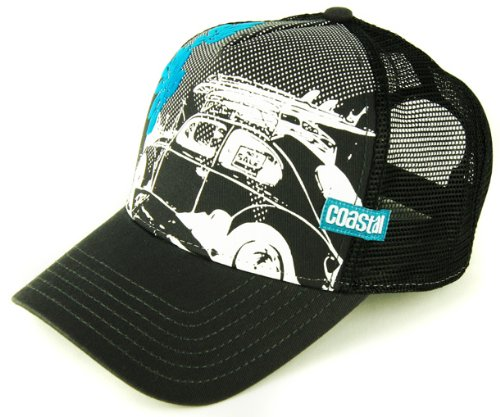 COASTAL 80er Trucker Cap SURFER Basecap KÄFER BEATLE - ANTHRAZIT SCHWARZ