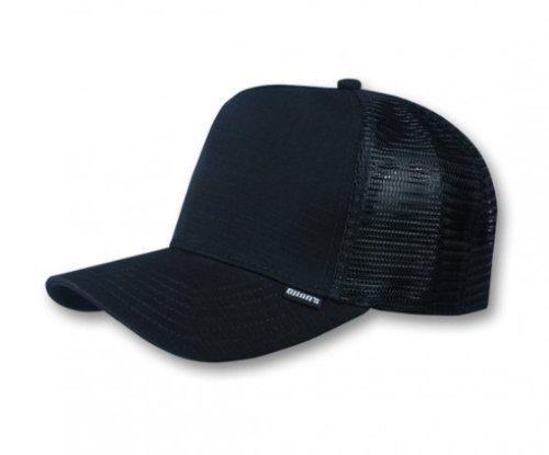 Djinns Herren Caps / Trucker Cap Rib-Stop High schwarz Verstellbar