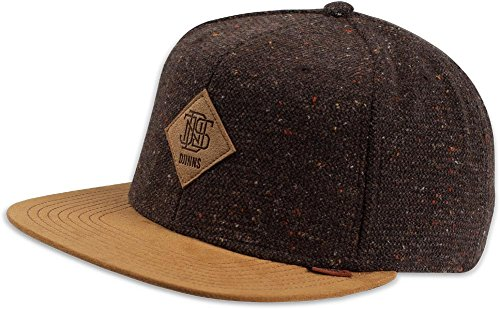 DJINNS - Spotted Wool Piqué (brown) - Snapback Cap