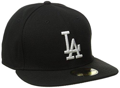 New Era Erwachsene Baseball Cap Mütze MLB Basic LA Dodgers 59 Fifty Fitted,  schwarz-weiß, 7 1/8, 10047495
