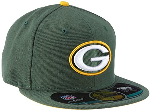 New Era Erwachsene Baseball Cap Mütze NFL On Field Bay Packers 59 Fifty Fitted, Team, 7 1/4, 10529767